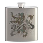 Anderson Tartan Lion Flask - Scottish lion rampant with the Anderson clan tartan and a banner with the family name. - Availble Colors: Stainless Steel