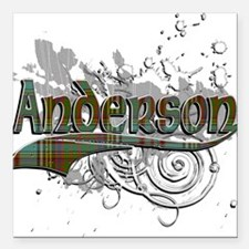 "Anderson Tartan Grunge Square Car Magnet 3"" x 3"""