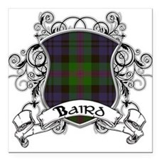 "Baird Tartan Shield Square Car Magnet 3"" x 3"""