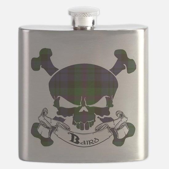 Baird Tartan Skull Flask