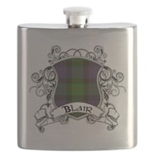 Blair Tartan Shield Flask