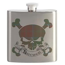 Brewer Tartan Skull Flask