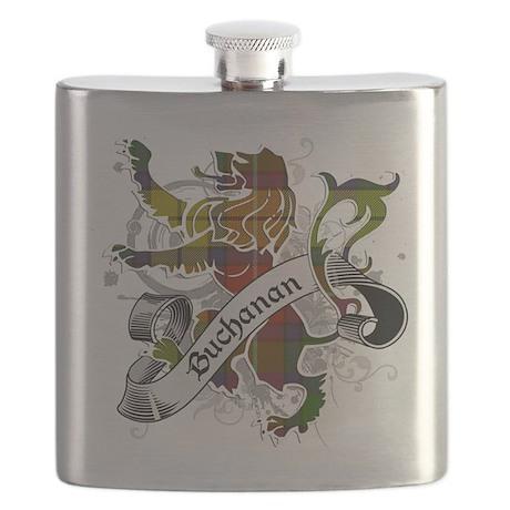 Buchanan Tartan Lion Flask