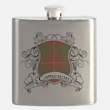 Cameron Tartan Shield Flask