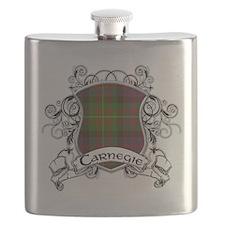 Carnegie Tartan Shield Flask