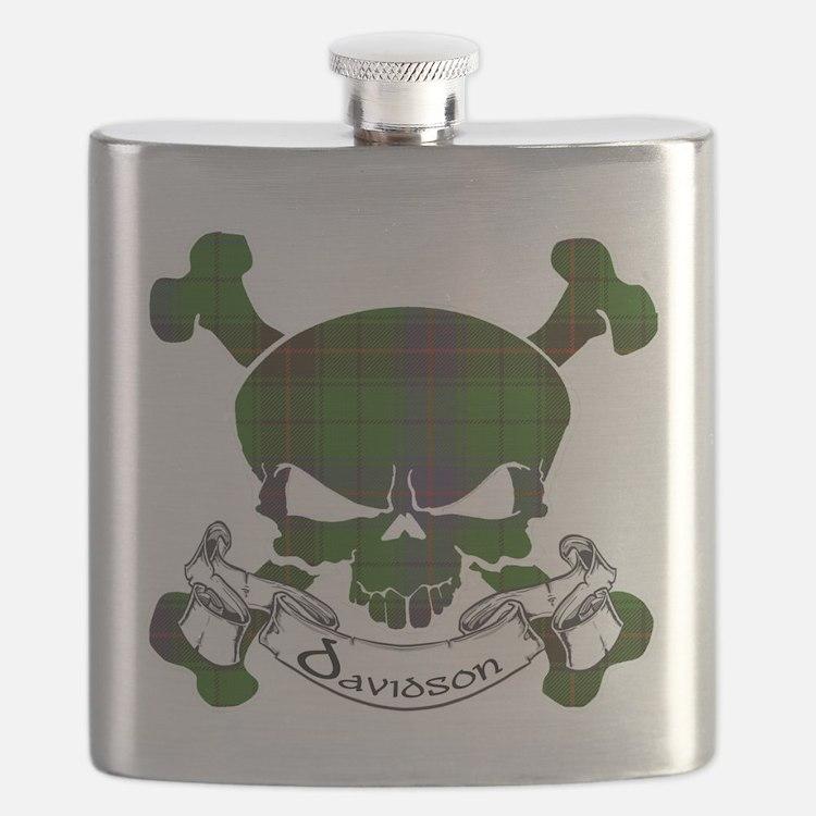Davidson Tartan Skull Flask