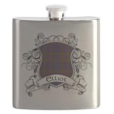 Elliot Tartan Shield Flask