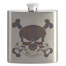 Elliot Tartan Skull Flask
