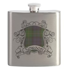 Gordon Tartan Shield Flask
