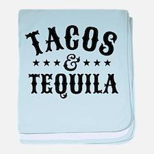 Tacos & Tequila baby blanket