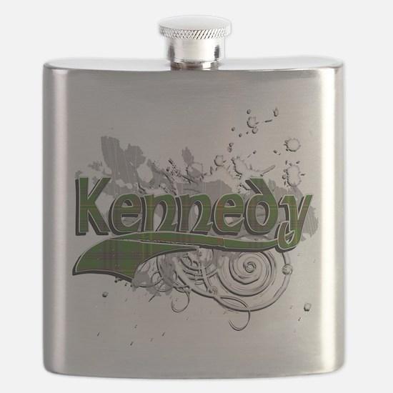 Kennedy Tartan Grunge Flask