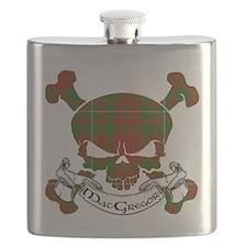 MacGregor Tartan Skull Flask