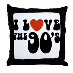 I Love the 90's Throw Pillow