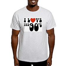 I Love the 90's Ash Grey T-Shirt