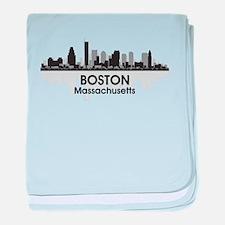 Boston Skyline baby blanket