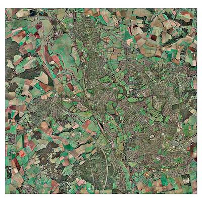 Oxford, UK, aerial image Poster