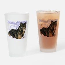 Alpha Wolf Drinking Glass