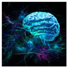 Brain research, conceptual artwork Poster