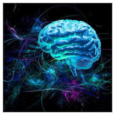 Brain research, conceptual artwork Poster