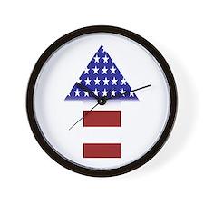 American Flag - upward arrow Wall Clock