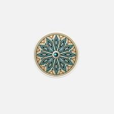 Native American Rosette 08 Mini Button
