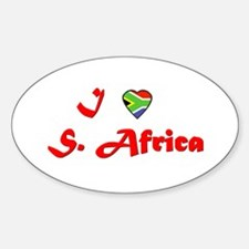 I Love South Africa Oval Decal