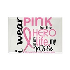 Hero In Life 2 Breast Cancer Rectangle Magnet