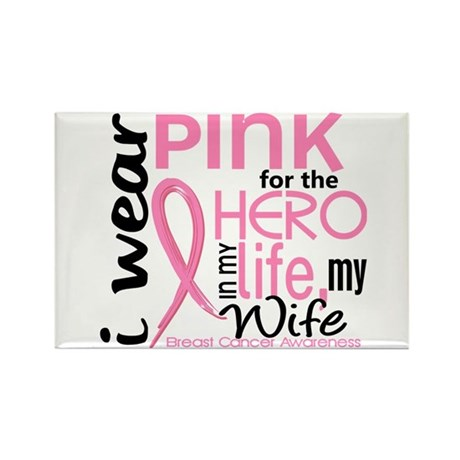 Hero In Life 2 Breast Cancer Rectangle Magnet (10