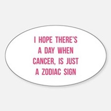Cancer Hope Sticker (Oval)