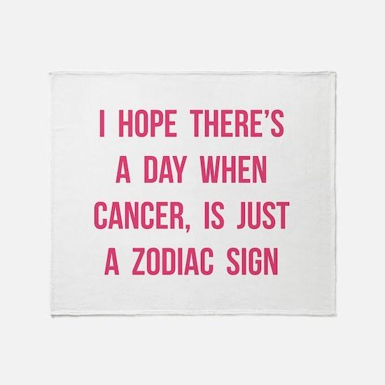 Cancer Hope Throw Blanket