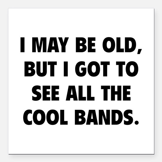 """All The Cool Bands Square Car Magnet 3"""" x 3"""""""