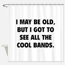 All The Cool Bands Shower Curtain