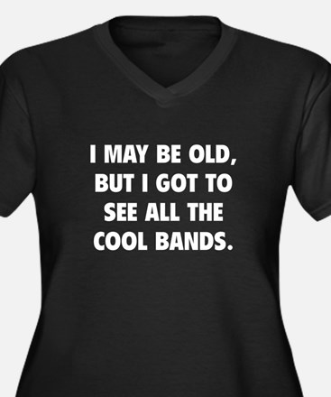 All The Cool Bands Women's Plus Size V-Neck Dark T