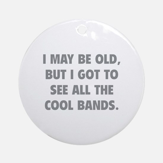 All The Cool Bands Ornament (Round)