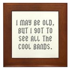 All The Cool Bands Framed Tile