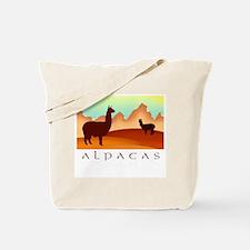 alpacas / mountains Tote Bag