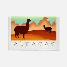alpacas / mountains Rectangle Magnet