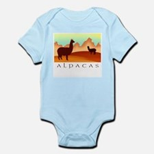 alpacas / mountains Infant Creeper