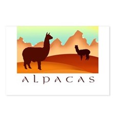 alpacas / mountains Postcards (Package of 8)