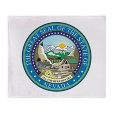 Nevada State Seal Throw Blanket