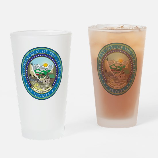 Nevada State Seal Drinking Glass