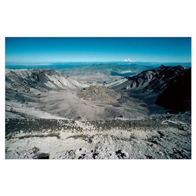 Mount St Helens volcanic crater Poster