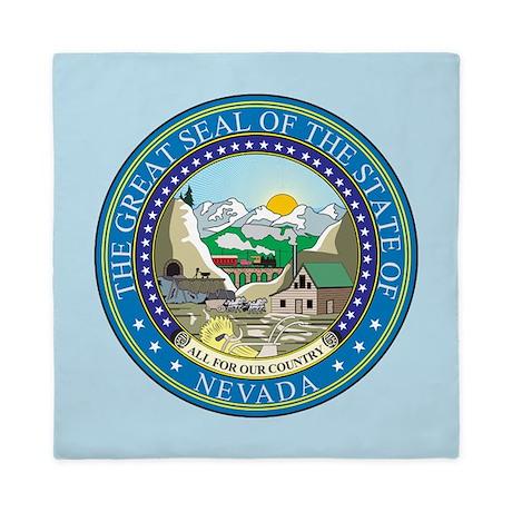 Nevada State Seal Queen Duvet
