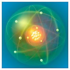 Atomic structure, conceptual artwork Poster