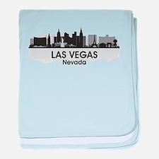 Las Vegas Skyline baby blanket