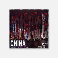 """hong kong china Square Sticker 3"""" x 3"""""""