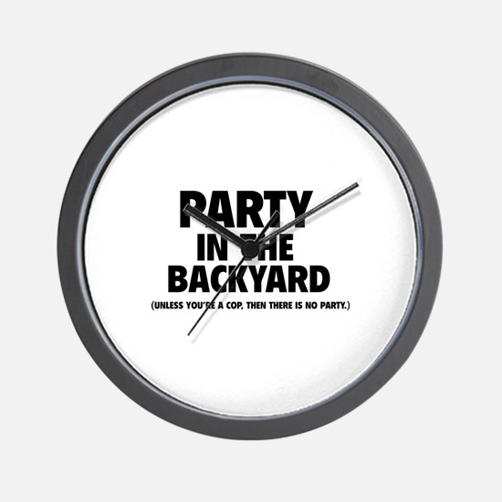Party In The Backyard Wall Clock