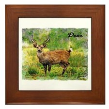deer in a beautiful setting Framed Tile
