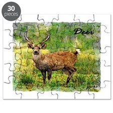 deer in a beautiful setting Puzzle