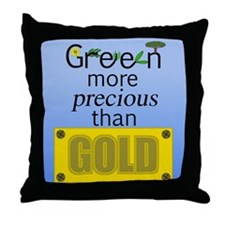 green_goldv4.png Throw Pillow